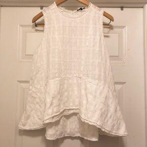 Peplum a-line sleeveless blouse
